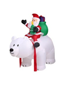 Inflatable Santa and Bear