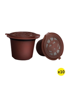 Refillable Reusable Coffee Tee Filter Capsules Pods 10 Pcs