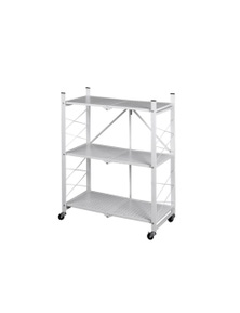 3 Tier Metal Plant Stand Planter Shelf in White Colour