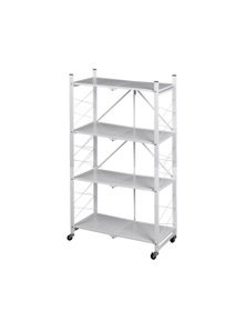 4 Tier Metal Plant Stand Planter Shelf in White Colour
