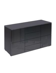 Levede Black Cabinets Storage Sideboard