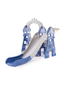 Kids Swing and Slide in Blue Colour