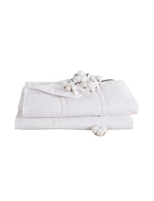 102x76cm 2.3kg Single Size Cotton Weighted Blanket in White Colour