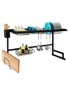Stainless Steel Drying Dish Rack Over The Sink