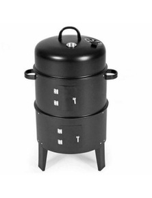 SOGA 3 In 1 Barbecue Smoker Outdoor Charcoal BBQ