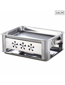 Benser 36CM Portable SS Outdoor Grill Chafing Dish