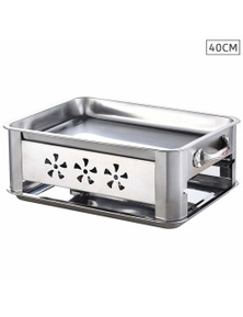 Benser 40cm Portable SS Outdoor Grill Chafing Dish