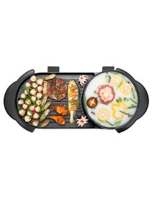 SOGA 2 in 1 Electric Non-Stick Grill & Hotpot Long