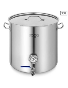 SOGA SS Brewery Pot With Beer Valve 33L