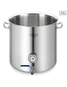 SOGA SS Brewery Pot With Beer Valve No Lid 33L