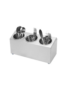 SOGA 18/10 SS Commercial Conical 3 hole Cutlery Holder