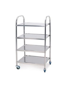 SOGA 4 Tier SS Kitchen Dining Food Cart