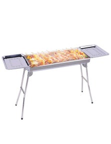 SOGA SS Portable SS Charcoal BBQ with Side Tray