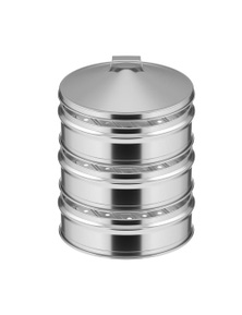 SOGA SS Steamers 3 Tier With Lid 25cm