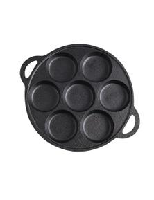 SOGA 31.5cm Cast Iron Non Stick 7 Hole Cavities Grill Mold