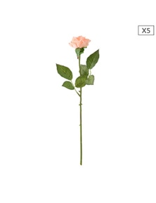 SOGA Artificial Silk Flower Rose Bouquet 5pcs