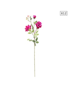 SOGA Artificial Silk Flower Rose Bouquet 12pcs