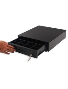 SOGA Black Heavy Duty Cash Drawer Manual Pos 350