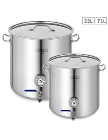 SOGA SS Brewery Pot With Beer Valve 33L and 71L