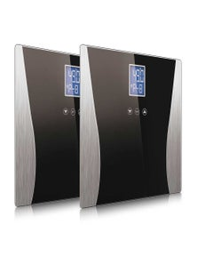 SOGA Digital Body Fat LCD Bathroom Scale Black 2pack