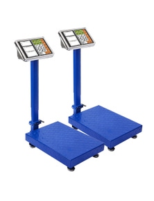 SOGA 300kg Electronic Digital Platform Scale Blue 2 pack