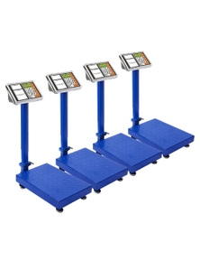 SOGA 300kg Electronic Digital Platform Scale Blue 4 pack