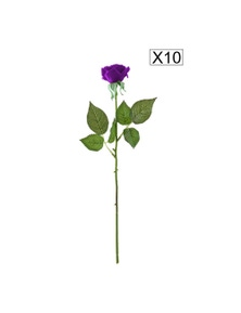 SOGA Artificial Silk Flower Rose Bouquet 10pcs