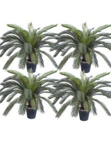 SOGA 125cm Artificial Indoor Sago Palm Plant 4pack