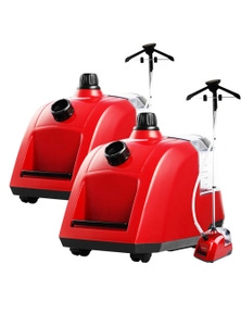 SOGA 80min Professional Portable Steam Cleaner Red 2pack