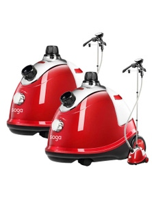 SOGA Professional Portable Steam Cleaner Red 2pack