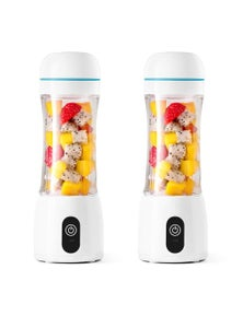 SOGA 380ml Portable USB Rechargeable Fruit Mixer 2pack