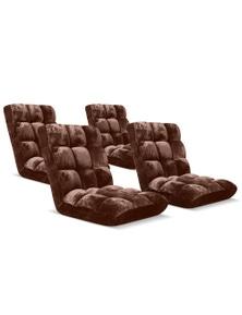 SOGA Recliner Folding Lounge Cushion 4pack