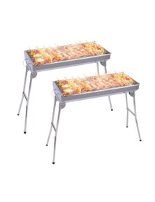 SOGA SS Portable SS Charcoal BBQ 2pack