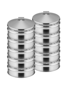 SOGA SS Steamers 5 Tier With Lid 22cm 2pack