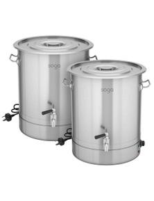 SOGA 21L SS URN Commercial Water Boiler 2200W 2pack