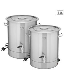 SOGA 25L SS URN Commercial Water Boiler 2200W 2pack