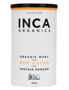 INCA Organics 400g Whey Protein Powder- Raw Cacao