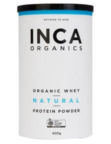 INCA Organics 400g Whey Protein Powder- Natural