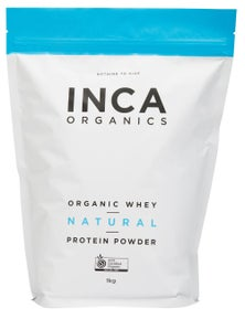 INCA Organics 1kg Whey Protein Powder- Natural