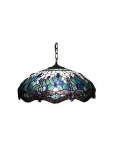 G&G Bro Blue Dragonfly Tiffany Pendant
