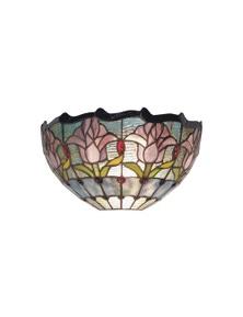 G&G Bro Mauve Tulip Tiffany Wall Light