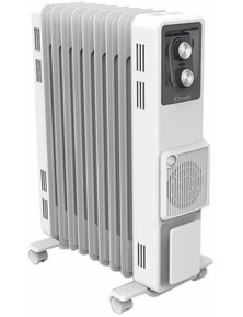 Dimplex 2.4kW Oil Column Heater with Turbo Fan - White