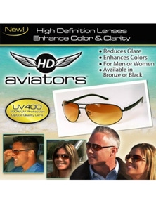 HD Vision Aviators Sunglasses As Seen On TV High Definition - BlackFrame