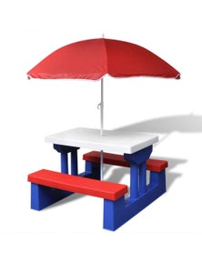 Kids Picnic Table With Umbrella