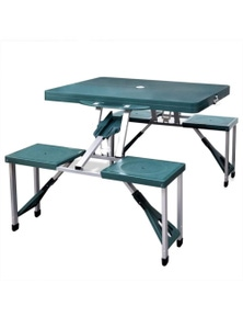 Foldable Camping Table Set with 4 Stools Extra Light