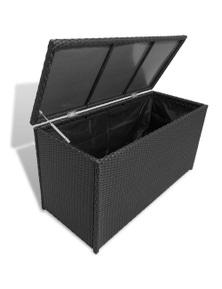 Garden Storage Chest Poly Rattan