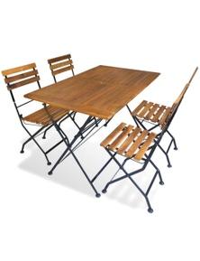 Outdoor Dining Set 5 Pieces Acacia Wood