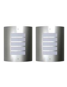 2 Stainless Steel Waterproof Wall Lights