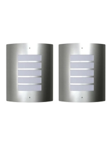 2 Stainless Steel Waterproof Wall Lights