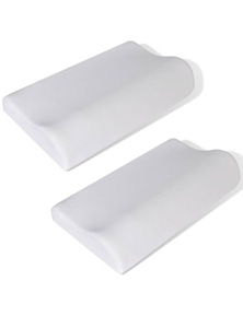 Memory Foam Orthopedic Neck Pillow 2 Pieces